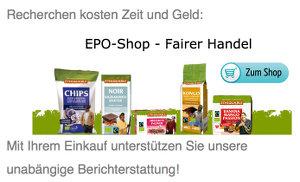 im epoShop fair gehandelte Bioprodukte kaufen und unabhängigen Journalismus unterstützen